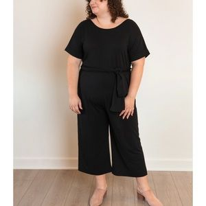 Ori Black French Terry Jumpsuit